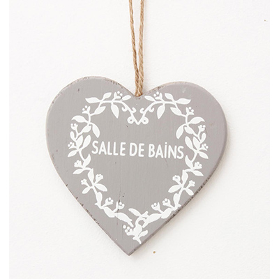 Wooden hanging sign salle de bain ecp design for Salle de bain door sign