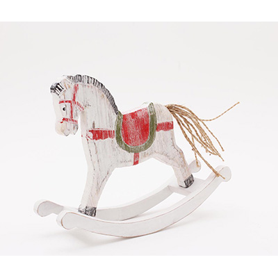christmas wooden rocking horse ecp design - Horse Christmas Decorations Uk